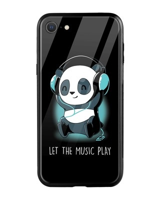 Shop Panda Music Play iPhone SE 2020 Mobile Cover-Front