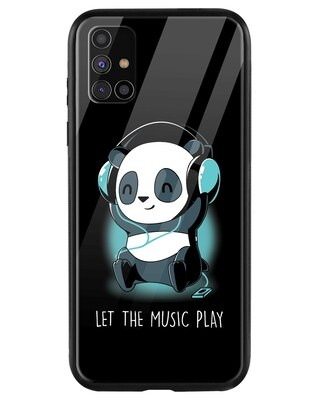 Shop Panda Music Play Samsung Galaxy M31s Mobile Cover-Front