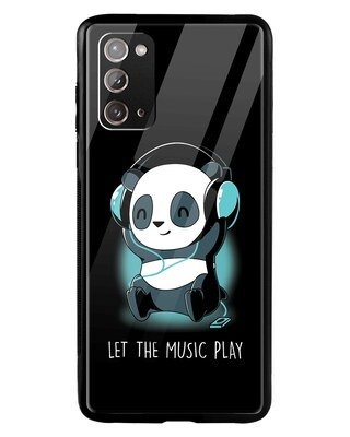 Shop Panda Music Play Samsung Galaxy Note 20 Mobile Cover-Front