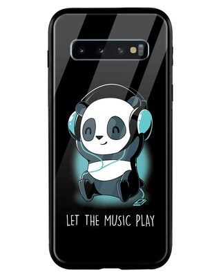 Shop Panda Music Play Samsung Galaxy S10 Mobile Cover-Front