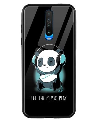 Shop Panda Music Play Xiaomi Poco X2 Mobile Cover-Front