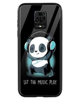 Shop Panda Music Play Xiaomi Redmi Note 9 Pro Mobile Cover-Front