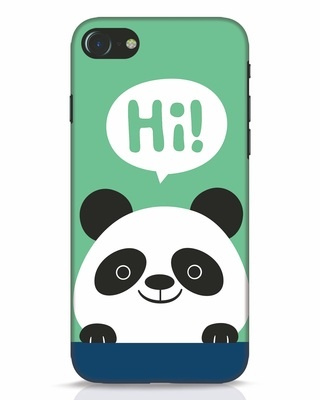 Shop Panda Says Hi iPhone 7 Mobile Cover-Front