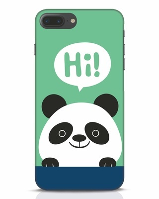 Shop Panda Says Hi iPhone 7 Plus Mobile Cover-Front