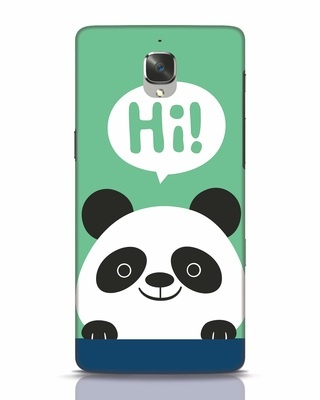 Shop Panda Says Hi OnePlus 3T Mobile Cover-Front