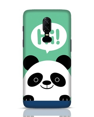 Shop Panda Says Hi OnePlus 6 Mobile Cover-Front