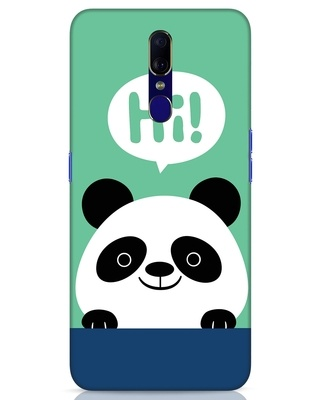 Shop Panda Says Hi Oppo F11 Mobile Cover-Front