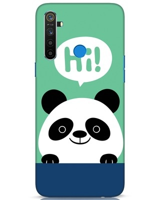 Shop Panda Says Hi Realme 5 Mobile Cover-Front