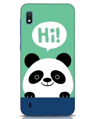 Shop Panda Says Hi Samsung Galaxy A10 Mobile Cover-Front