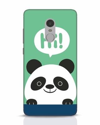 Shop Panda Says Hi Xiaomi Redmi Note 4 Mobile Cover-Front