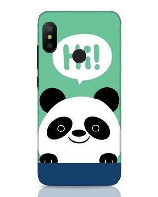 Shop Panda Says Hi Xiaomi Redmi Note 6 Pro Mobile Cover-Front