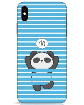 Shop Panda Yay iPhone XS Max Mobile Cover-Front