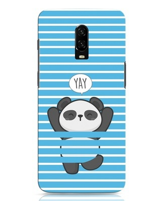 Shop Panda Yay OnePlus 6T Mobile Cover-Front