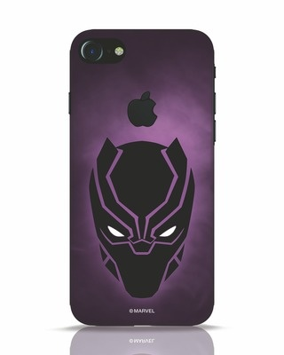Shop Panther Black iPhone 7 Logo Cut Mobile Cover-Front