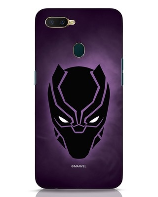 Shop Panther Black Oppo A7 Mobile Cover-Front