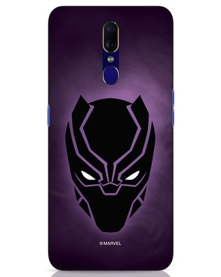Shop Panther Black Oppo F11 Mobile Cover-Front