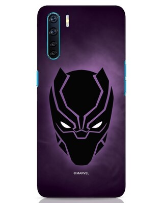 Shop Panther Black Oppo F15 Mobile Cover-Front