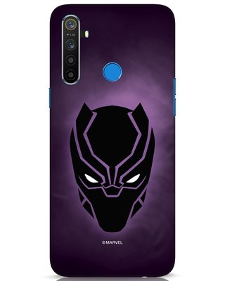 Shop Panther Black Realme 5 Mobile Cover-Front