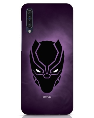 Shop Panther Black Samsung Galaxy A50 Mobile Cover-Front