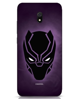 Shop Panther Black Xiaomi Redmi 8A Mobile Cover-Front
