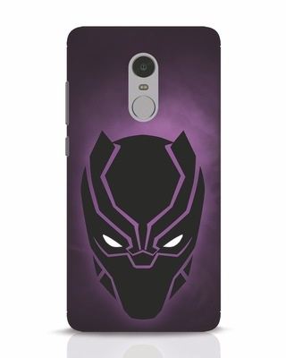 Shop Panther Black Xiaomi Redmi Note 4 Mobile Cover-Front