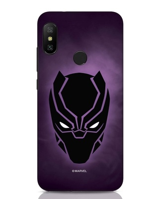 Shop Panther Black Xiaomi Redmi Note 6 Pro Mobile Cover-Front