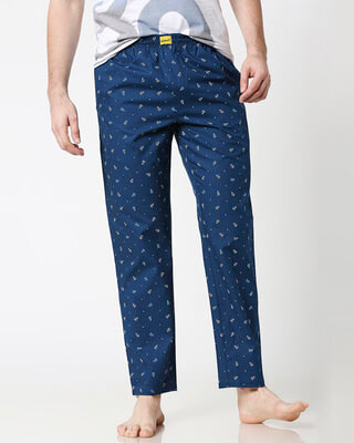 Shop Paper Blue Planes All Over Printed Pyjama-Front