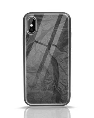 Shop Paper Crush iPhone X Glass Mobile Cover-Front