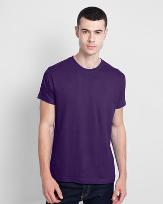 Shop Parachute Purple Half Sleeve T-Shirt-Front