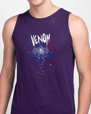 Shop Parasite Round Neck Vest Parachute Purple (SML)-Front
