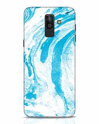 Shop Pastel Blue Marble Samsung Galaxy J8 Mobile Cover-Front
