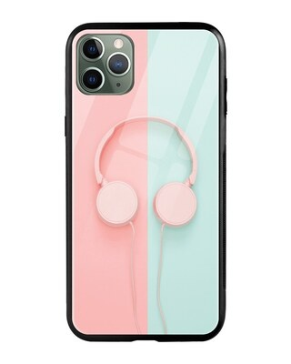 Shop Pastel Headphones iPhone 11 Pro Max Mobile Cover-Front