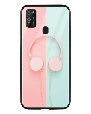 Shop Pastel Headphones Samsung Galaxy M21 Mobile Cover-Front