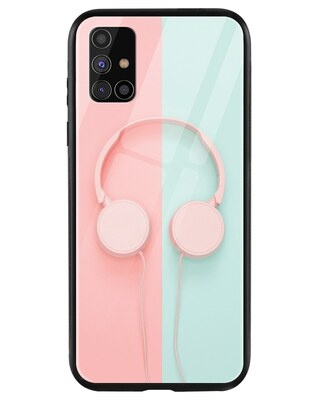 Shop Pastel Headphones Samsung Galaxy M31s Mobile Cover-Front