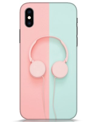 Shop Pastel Music iPhone XS Mobile Cover-Front