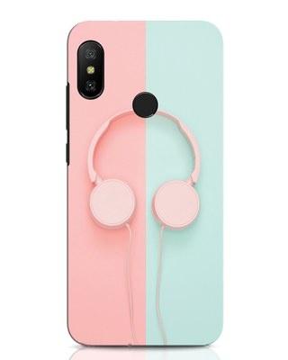Shop Pastel Music Xiaomi Redmi Note 6 Pro Mobile Cover-Front