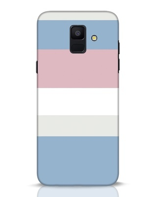 Shop Pastels Stripes Samsung Galaxy A6 2018 Mobile Cover-Front