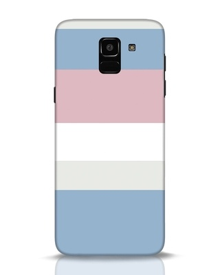 Shop Pastels Stripes Samsung Galaxy J6 Mobile Cover-Front