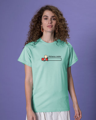 Shop Patience Meter Boyfriend T-Shirt-Front