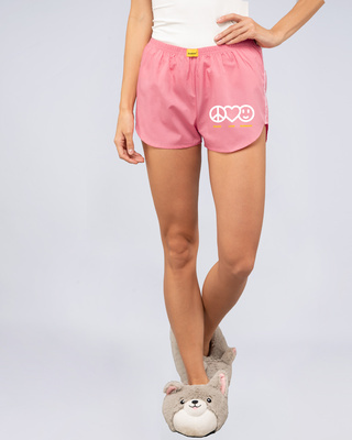 Shop Peace & Love Side Printed Boxer-Front