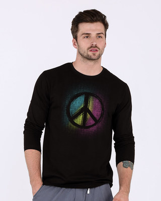 Shop Peace Colors Full Sleeve T-Shirt-Front