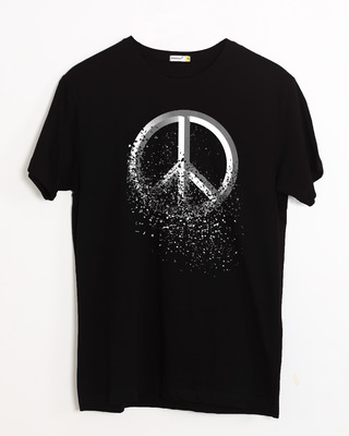 Shop Peace Dispersion Half Sleeve T-Shirt-Front