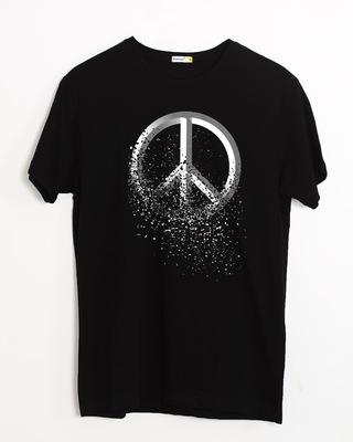 Shop Peace Dispersion Half Sleeve T-Shirt-Front