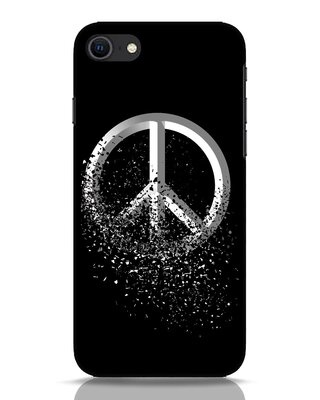 Shop Peace Dispersion iPhone SE 2020 Mobile Cover-Front