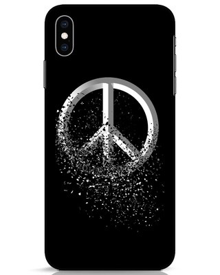 Shop Peace Dispersion iPhone XS Max Mobile Cover-Front