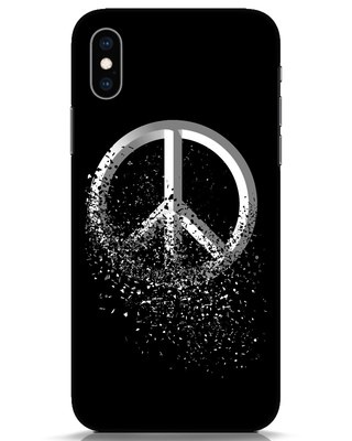Shop Peace Dispersion iPhone XS Mobile Cover-Front