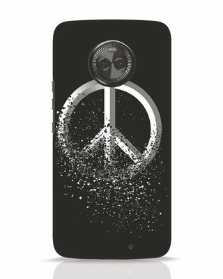 Shop Peace Dispersion Moto X4 Mobile Cover-Front