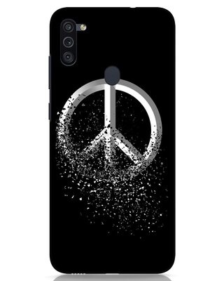 Shop Peace Dispersion Samsung Galaxy M11 Mobile Cover-Front
