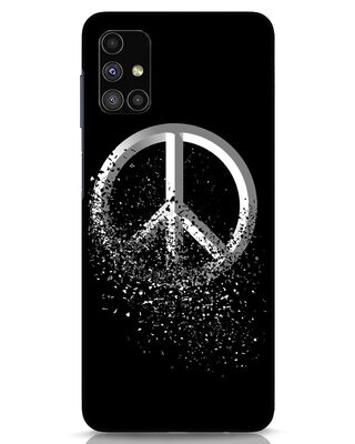 Shop Peace Dispersion Samsung Galaxy M51 Mobile Cover-Front