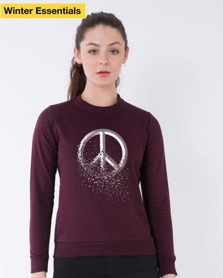 Shop Peace Dispersion Sweatshirt-Front